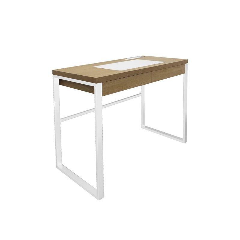 Intesi Dolem Industrial biała podstawa biurko