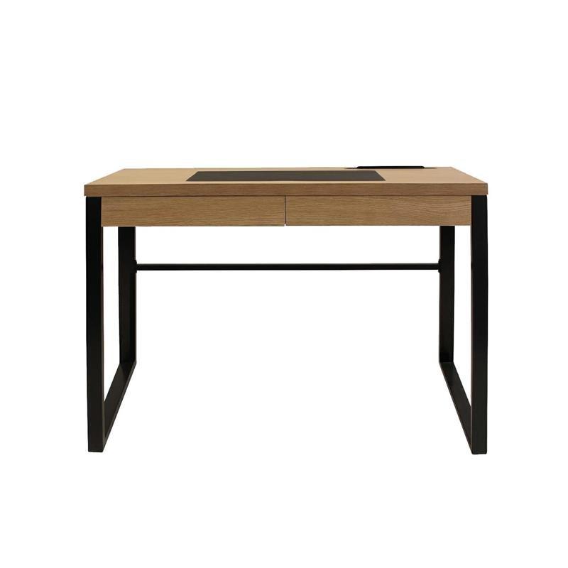 Intesi Dolem Industrial czarna podstawa biurko