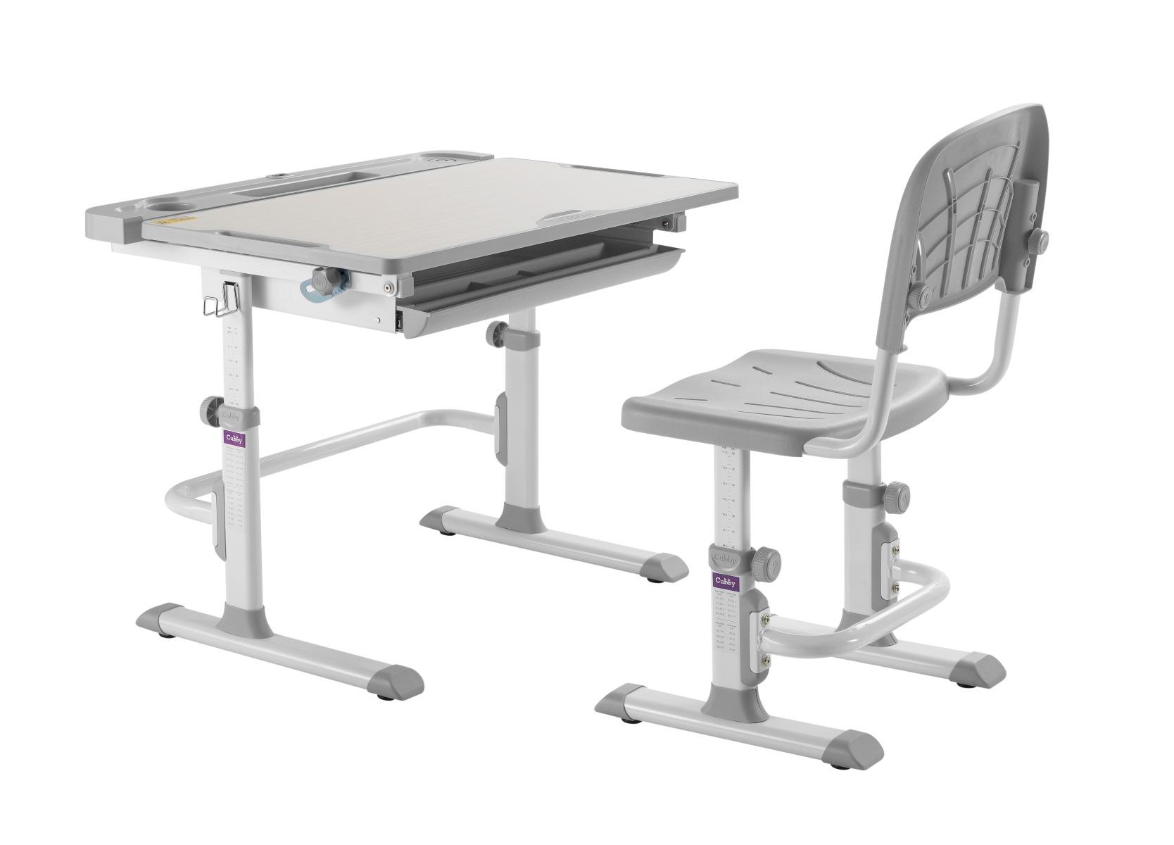 Biurko DISA szare z krzesłem ☞ Kupuj w Sprawdzonych i wysoko Ocenianych sklepach