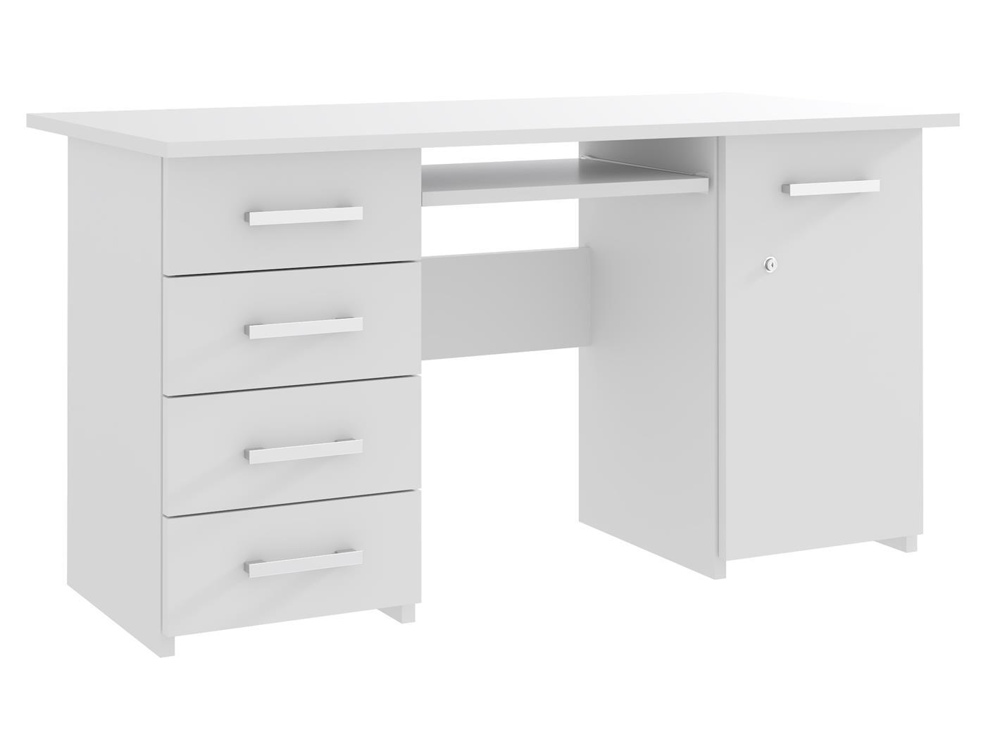 Biurko ELEONORA 2 biały mat ☞ Kupuj w Sprawdzonych i wysoko Ocenianych sklepach