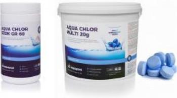 Aquapool Aqua Chlor Blue 6W1 Tabletki 20g 5kg + Chlor Szok 1kg
