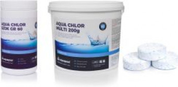 Aquapool Aqua Chlor Multi 6W1 Tabletki 200g 5kg + Chlor Szok 1kg