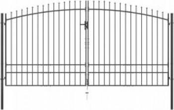 Brama Dwuskrzydłowa Z Grotami Stal 400 x 248 cm