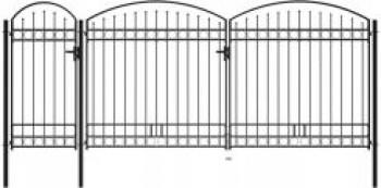 Brama ogrodzeniowa, zaokrąglona, stal, 2,5 x 5 m,