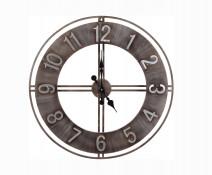 Duży industrialny zegar ścienny, wiszący, retro, vintage Old Gold 76 cm