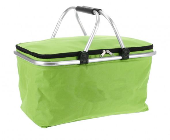 Koszyk na zakupy, kosz zakupowy, piknikowy, składany - zielony