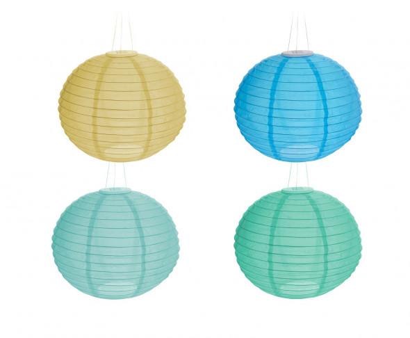 Lampion solarny. Idealny do ogrodu, na balkon i taras. Odporny na warunki atmosferyczne. Średnica 28 cm.
