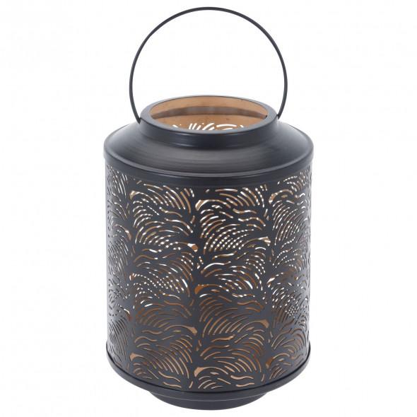 Latarnia metalowa lampion świecznik metalowy 25 cm
