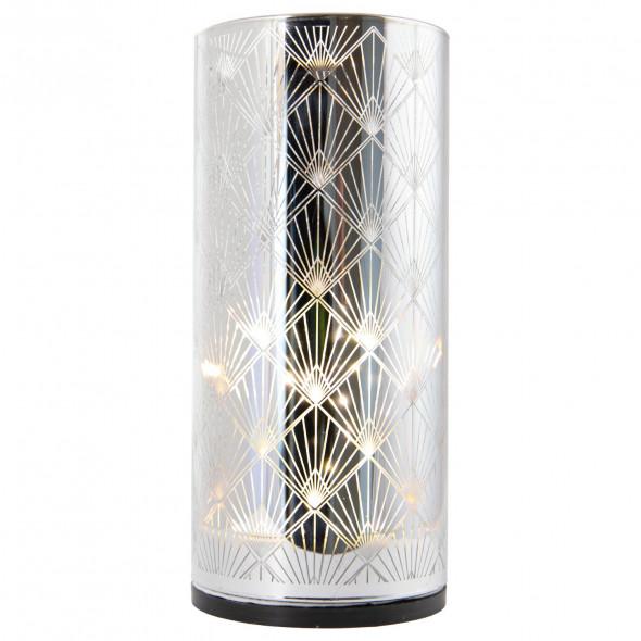 Ozdoba świąteczna lampka lampion latarenka wazon świecznik LED 15 cm wz.3