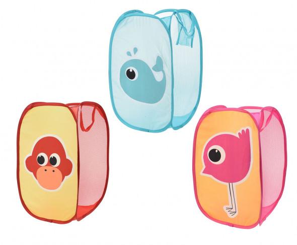 Praktyczny, składany pojemnik z tkaniny. Idealny do pokoju dziecięcego. Organizer na zabawki. Kosz na pranie, na brudną bieliznę
