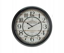 Staroświecki wiszący zegar kolejowy, ścienny zegar dworcowy, styl industrialny retro, vintage, loft Train Station Board 63 cm