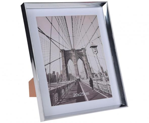 Stojąca ramka na zdjęcia, biurkowa, na półkę, na szafkę, styl glamour, rozmiar zdjęcia 20 x 25 cm Silver Magic
