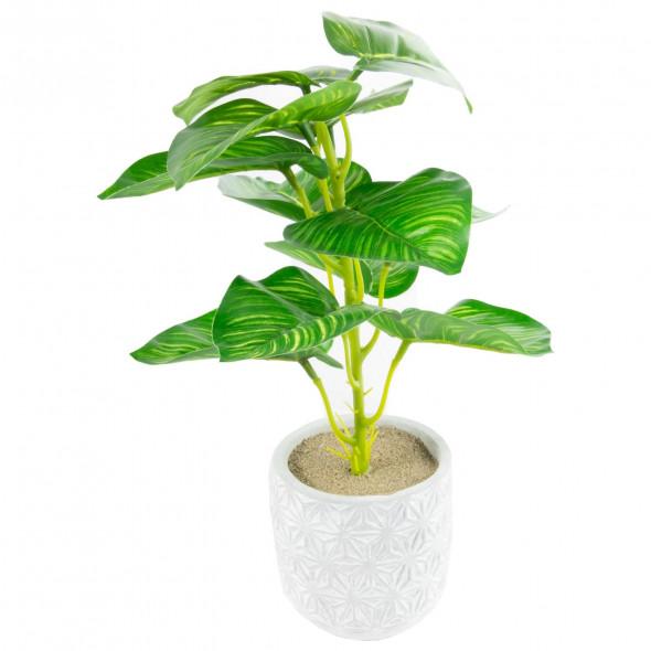 Sztuczna roślina kwiat roślinka w doniczce 30 cm wz.4