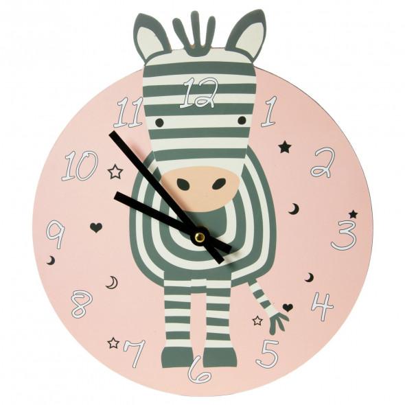 Zegar dziecięcy wiszący 26 cm zebra