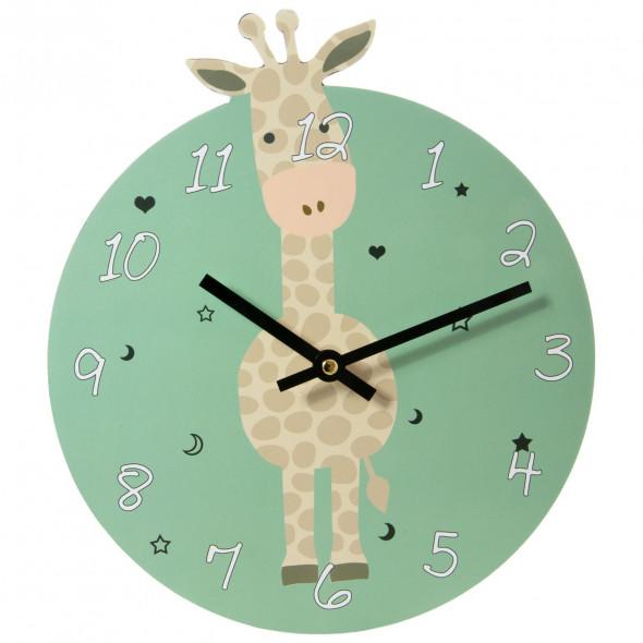 Zegar dziecięcy wiszący 26 cm żyrafa