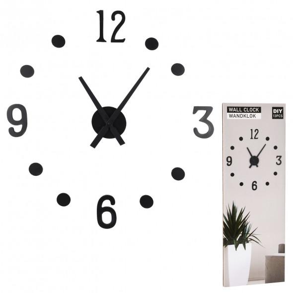 Zegar ścienny 3D do naklejania DIY nowoczesny