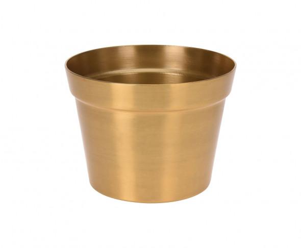 Złota donica aluminiowa, doniczka na kwiaty, w stylu glamour, boho