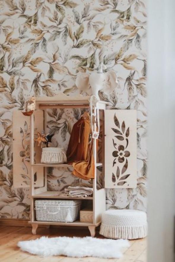 Garderoba dla dzieci kwiaty natural