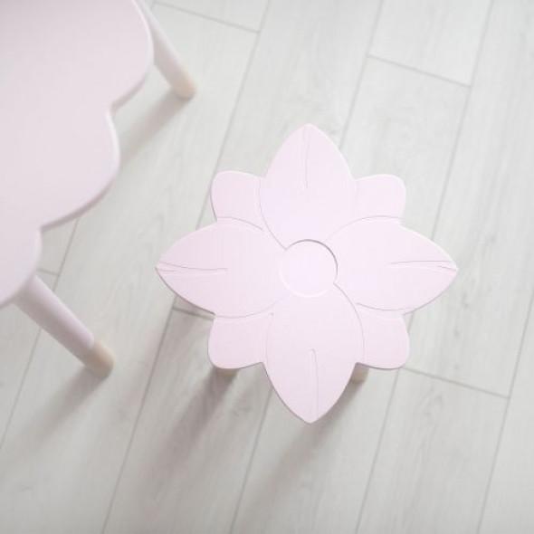 Taboret dla dzieci kwiatek - drewno