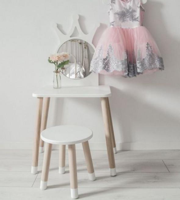 Toaletka dla dzieci z lusterkiem - drewno