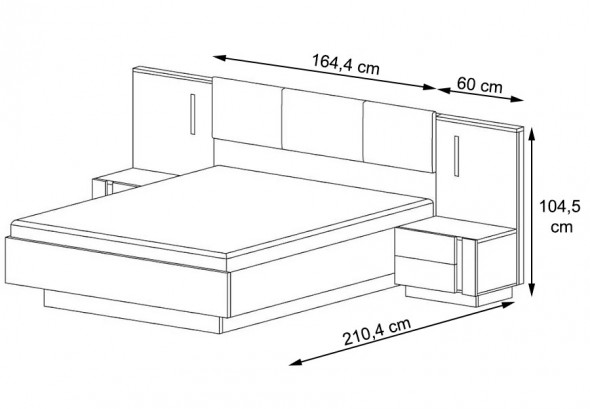 ALTO - Zestaw do sypialni / Dąb artisan + grafit mat