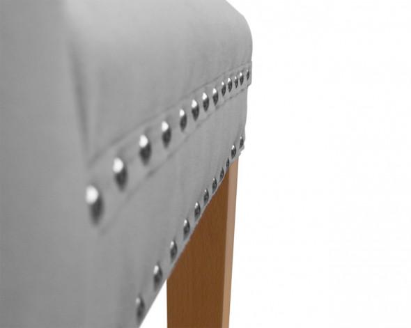 Krzesło MADAME II szary/ noga czarna/ TR15