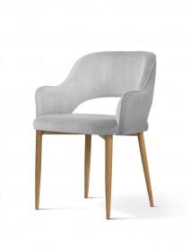 Krzesło MERCY srebrny/ noga dąb/ BL03