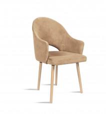 Krzesło BARI beż/ noga buk/ TR4 Bettso Meble
