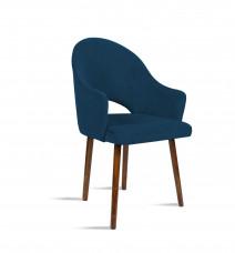 Krzesło BARI granatowy/ noga orzech/ SO263 Bettso Meble