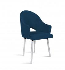 Krzesło BARI granatowy/ noga silver/ SO263 Bettso Meble