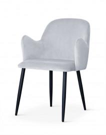 Krzesło CAMEL srebrny/ noga czarna/ BL03 - ostatnie 6 sztuk !!! Bettso Meble