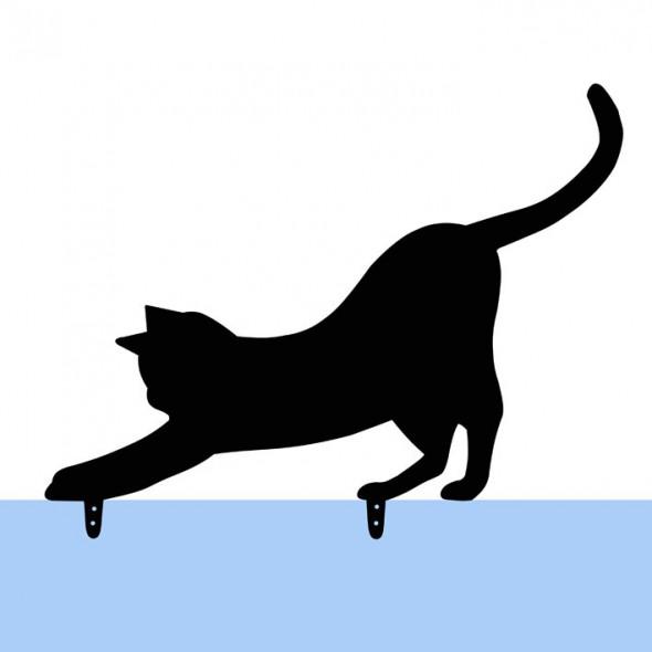 Czarny metalowy kot do ogrodu Mizia figurka kota