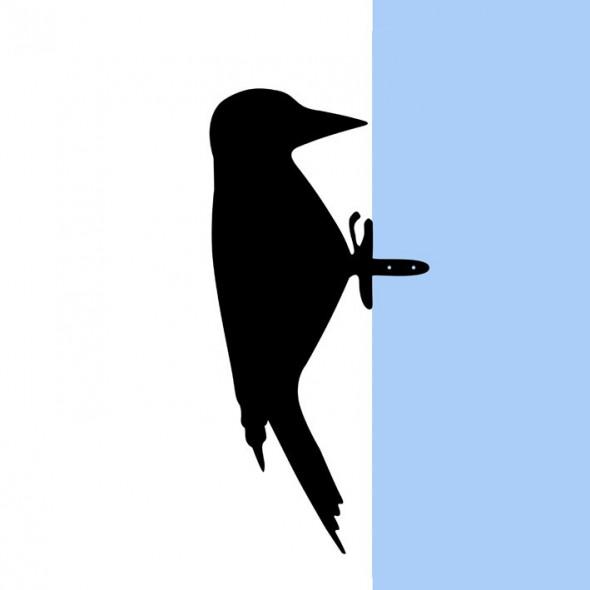 Dzięcioł StukPuk ozdoba ogrodowa figurka ptaka do ogrodu