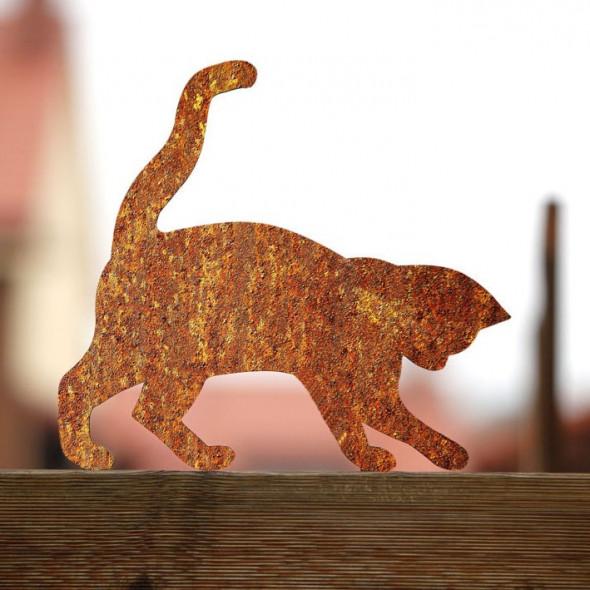 Figurka kota do ogrodu Rdzawa Tosia