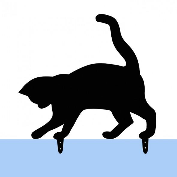 Gadżet dla kociarza stalowy Kot Tosia figurka ogrodowa