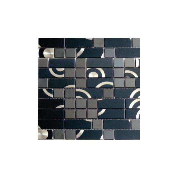 Mozaika metalowa metalic circles 23x48