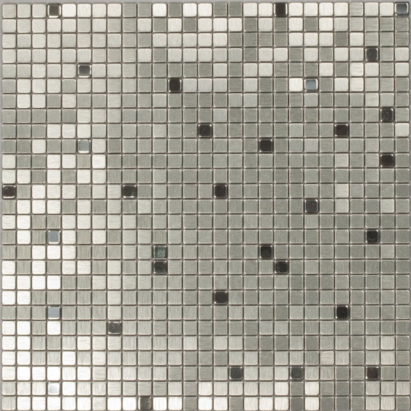 Mozaika metalowa silver flash 10x10