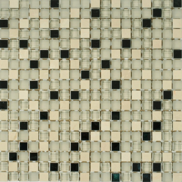 Mozaika szklana bianco metallic 15x15