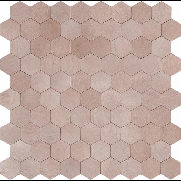 Mozaika szklana hex brushed