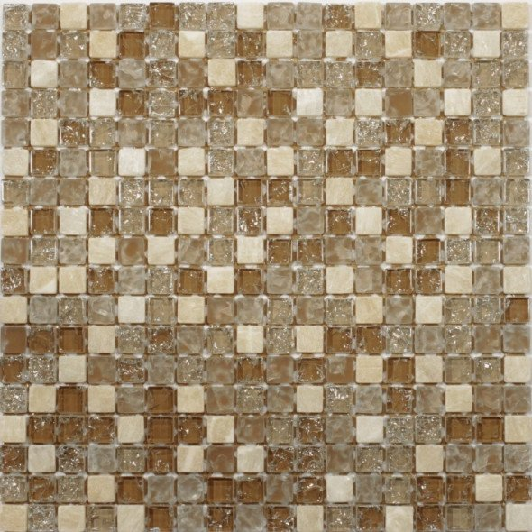 Mozaika szklana mix honey 15x15