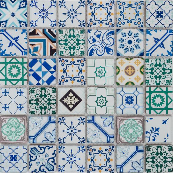 Mozaika szklana patch glass color