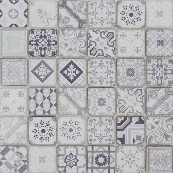 Mozaika szklana patch glass grey