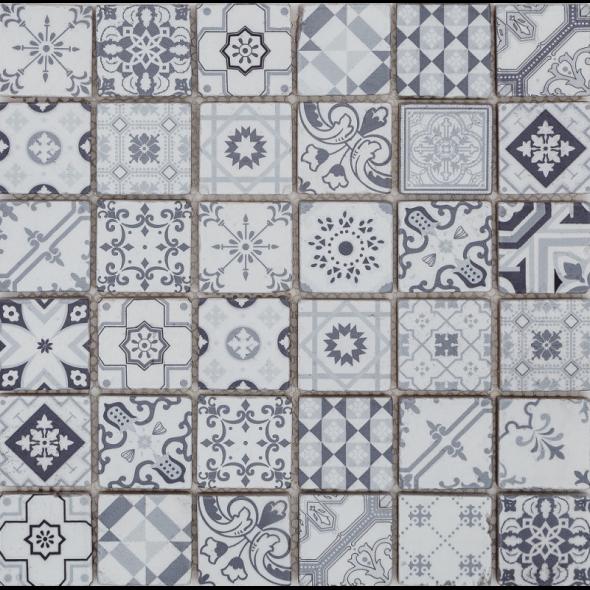 Mozaika szklana patch grey