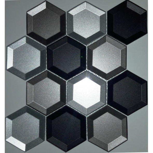 Mozaika szklana reflex grey