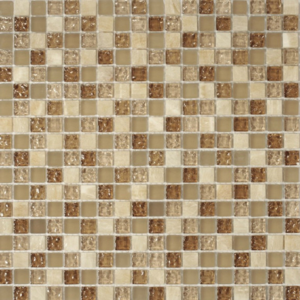 Mozaika szklana rustico oro 15x15