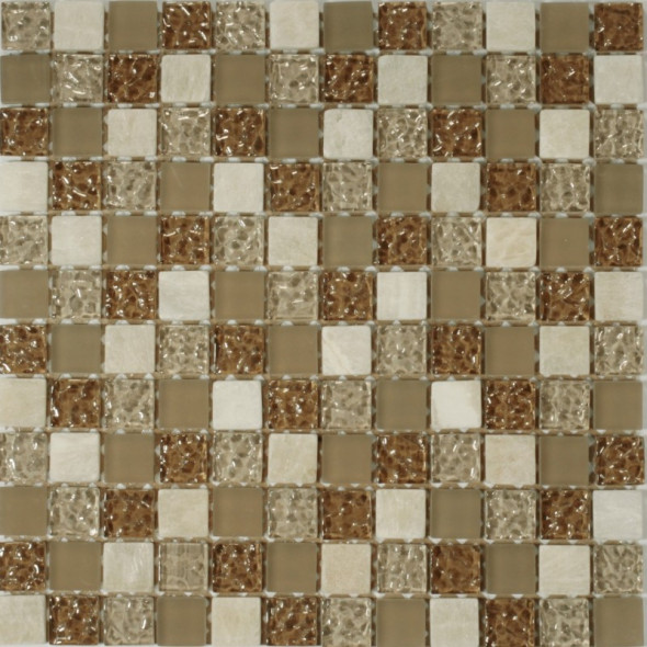 Mozaika szklana rustico oro 23x23