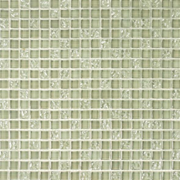 Mozaika szklana silver grey 15x15