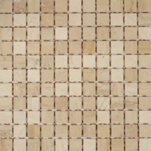 Mozaika trawertyn botticino lappato 25x25