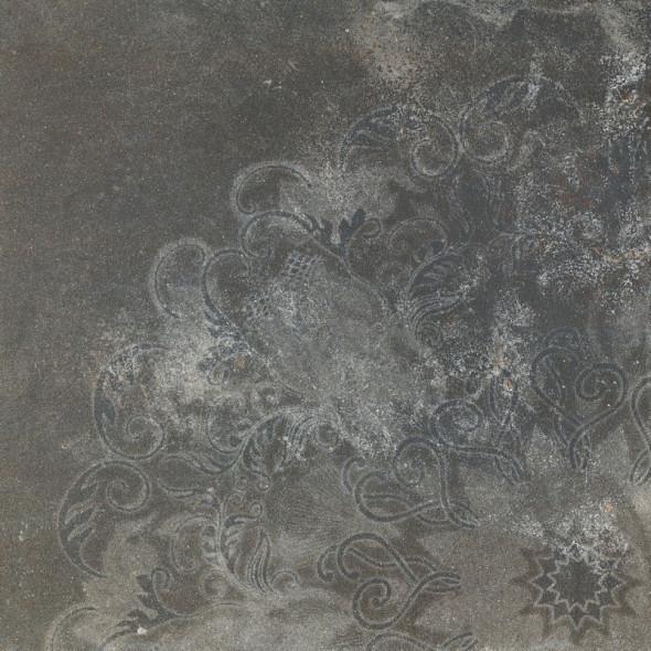 Płytka podłogowa gresowa cemento graphite  inserto