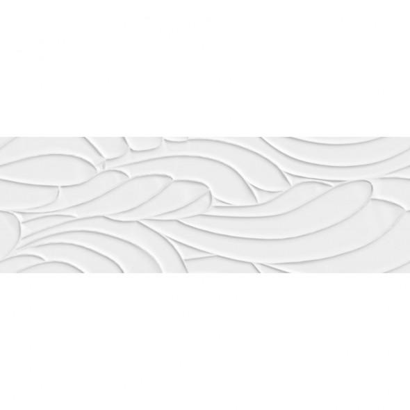 Płytka ścienna leaf white matt